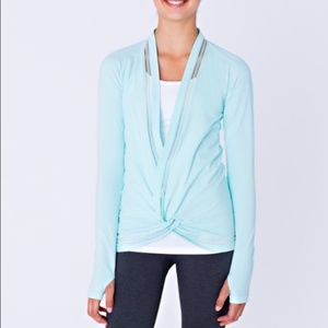 Ivivva Own The Move Blue Wrap Top